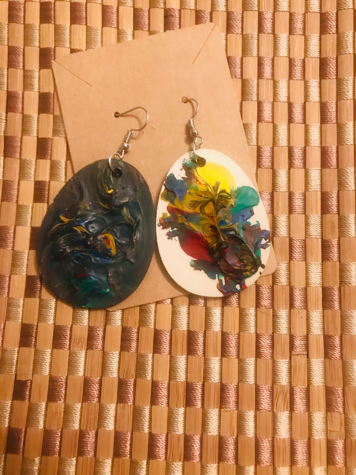 Custom-Made & Hand-Painted Healing Earrings \