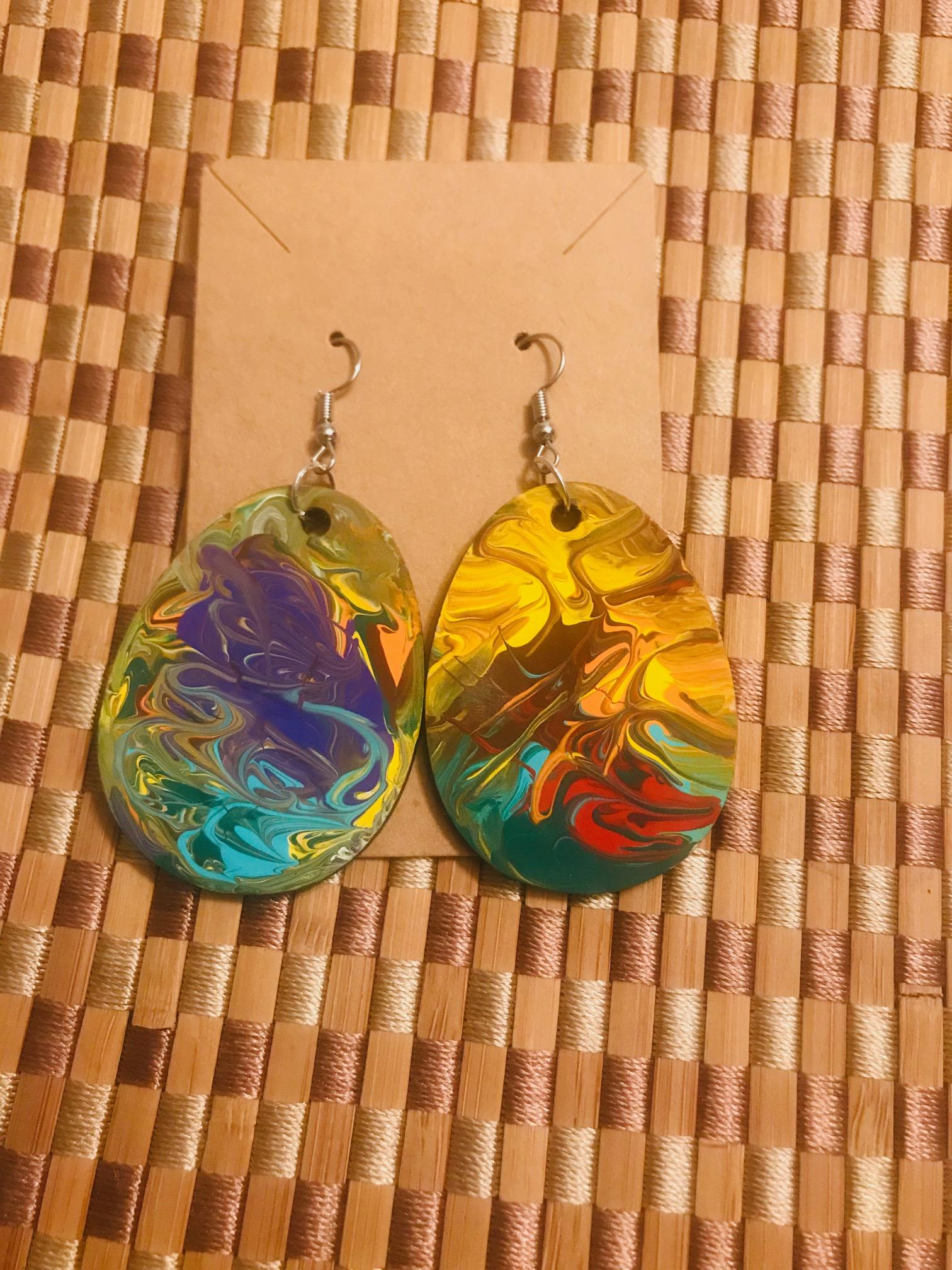 Custom-Made & Hand-Painted Healing Earrings \